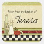 Fresco de la cocina de pegatinas de encargo