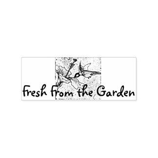 Fresco del jardín sello de caucho