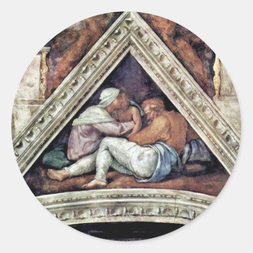 Fresco del techo para la historia de la creación e pegatina