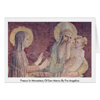 Fresco en el monasterio de San Marco por Fra Angel Tarjeta De Felicitación