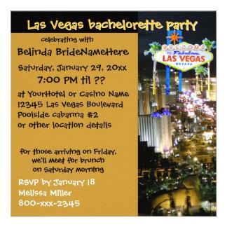 Fresco invita para Las Vegas Bachelorette Invitación