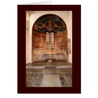 Frescos medievales tarjeta de felicitación