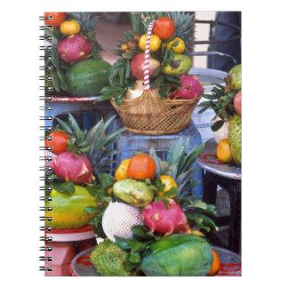 Fresh Asian Fruits Cuaderno