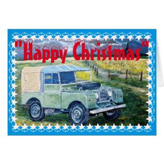 """""""FREYA"""" la serie una tarjeta de Navidad del taxi"""
