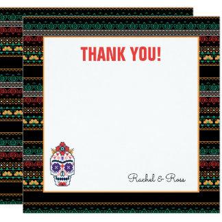 Frida Kahlo el   Dia De Los Muertos - gracias Invitación 13,3 Cm X 13,3cm