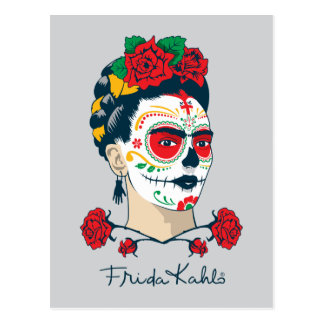 Frida Kahlo el | El Día de los Muertos Postal