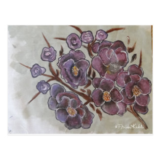 Frida Kahlo pintó las flores Postal