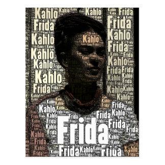 Frida Kahlo que pone letras al retrato Postal
