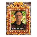 Frida Kahlo Reflejando Postal