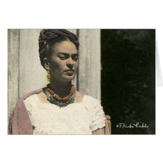Frida Kahlo se ruboriza fotografía Felicitaciones