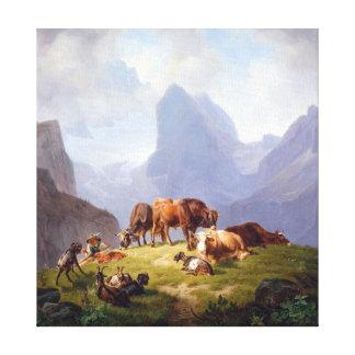 Friedrich Voltz en el Alm Impresión En Lienzo