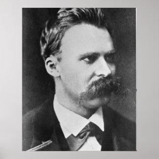 Friedrich Wilhelm Nietzsche (1844-1900) 1873 (b/w Póster
