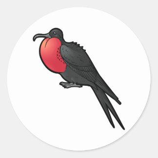 Frigatebird magnífico pegatina redonda