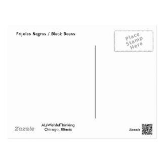 Frijoles Negros/alubias negras Postal