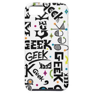 Friki con el caso del iphone 5 de las palabras iPhone 5 Case-Mate fundas