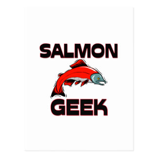 Friki de color salmón postal