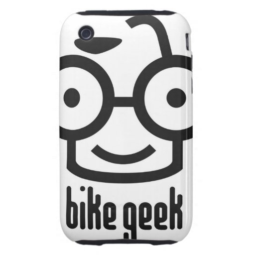 Friki de la bici tough iPhone 3 carcasas