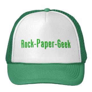 Friki de papel de la roca gorro