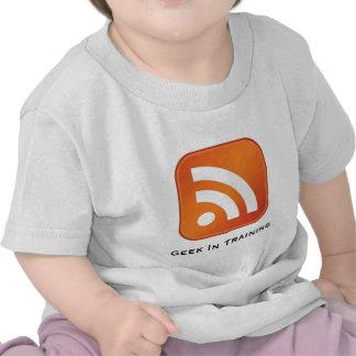 Friki del RSS en camiseta del niño del entrenamien