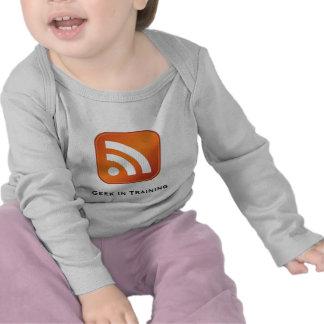 Friki del RSS en manga larga infantil del entrenam Camisetas