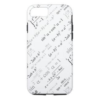 Friki divertido de la matemáticas de las fórmulas funda iPhone 7
