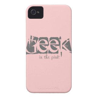 Friki en el caso de encargo rosado del iPhone 4 4S iPhone 4 Carcasas