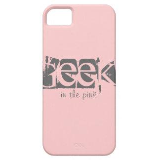 Friki en el caso de encargo rosado del iPhone 5 de iPhone 5 Case-Mate Fundas