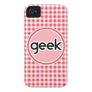 Friki; Guinga roja y blanca iPhone 4 Carcasa