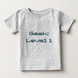 Friki: Nivel 1 Camiseta De Bebé