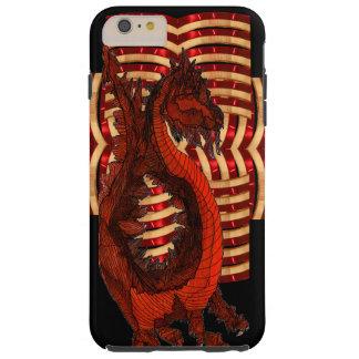 Friki rojo de Steampunk del gótico del negro de la Funda De iPhone 6 Plus Tough