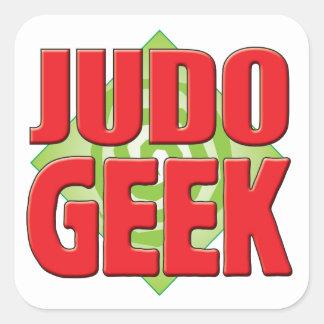 Friki v2 del judo pegatina cuadradas