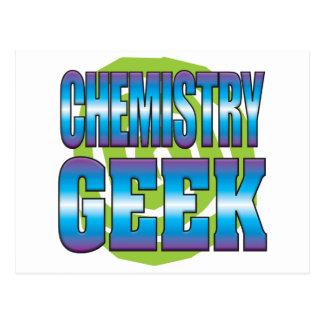 Friki v3 de la química tarjeta postal