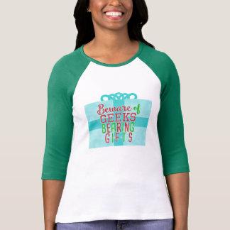 Frikis divertidos del navidad que llevan humor del camiseta