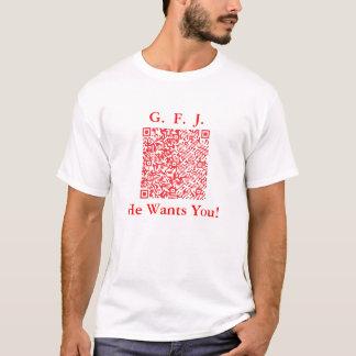 Frikis para el camisetas del código del qr de