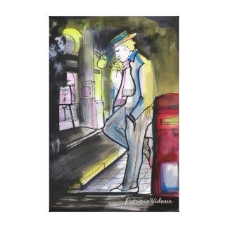 Frio de Que Noche llena de hastio y de Impresión En Lienzo