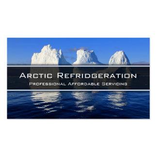 Frío, hielo, aire acondicionado - tarjeta de tarjetas de visita