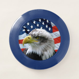 Frisbee De Wham-O Bandera americana calva de Eagle