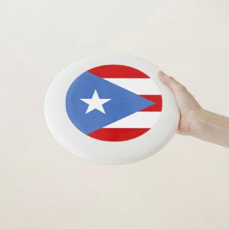 Frisbee De Wham-O Bandera de los deportes de Puerto Rico