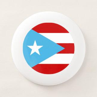 Frisbee De Wham-O Bandera del puertorriqueño del azul de cielo