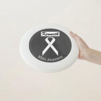 Frisbee De Wham-O Cinta estándar blanca de Kenneth Yoncich