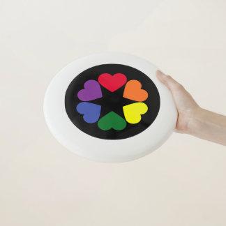 Frisbee De Wham-O Corazones del orgullo de LGBT