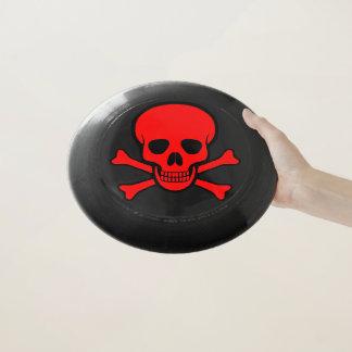 Frisbee De Wham-O Cráneo rojo y bandera pirata