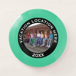 Frisbee De Wham-O Cree un recuerdo de las vacaciones con la foto y