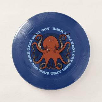 Frisbee De Wham-O Dibujo animado rojo feroz de los tentáculos del