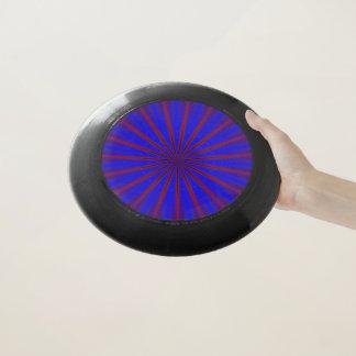 Frisbee De Wham-O Diseño azul del caleidoscopio
