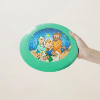 Frisbee De Wham-O Escena dulce de la natividad del bebé Jesús