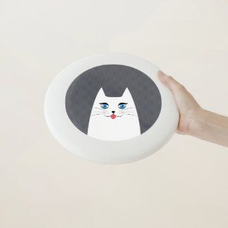 Frisbee De Wham-O Gato lindo con la lengua que se pega hacia fuera
