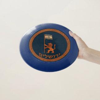 Frisbee De Wham-O León del día de Jerusalén con la bandera