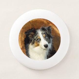 Frisbee De Wham-O Mascota azul de la fotografía de la cabeza de