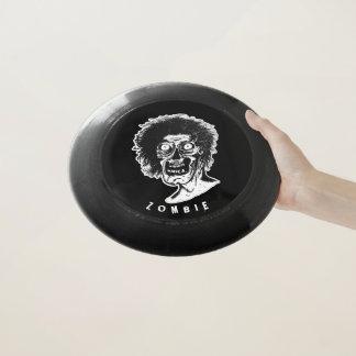 Frisbee De Wham-O Negro y blanco del ZOMBI